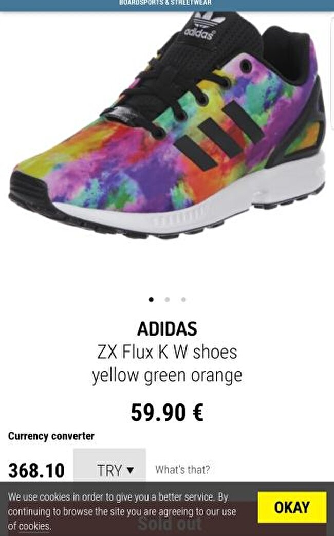 Adidas torsion colourful 30 no yeni gibi